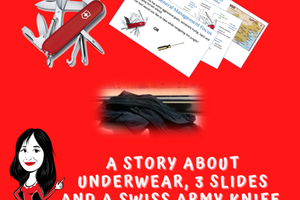 A Story About Underwear, 3 Slides & A Swiss Army knife